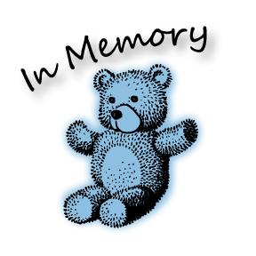 boy-memorial-card Teddy Bear